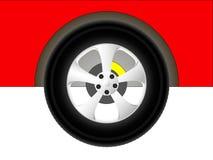 Rueda de coche roja Foto de archivo libre de regalías
