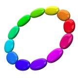 Rueda de color 3d Imagen de archivo libre de regalías