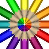 Rueda de color del lápiz Imagen de archivo libre de regalías