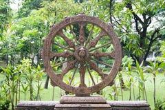 Rueda de Dhamma Foto de archivo libre de regalías