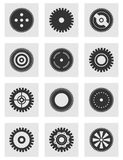 Rueda de engranaje un icono stock de ilustración