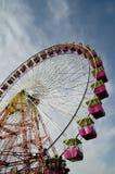 Rueda de Ferris de la feria y del parque de atracciones Fotografía de archivo libre de regalías