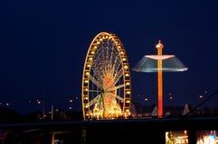 Rueda de Ferris en la noche Imagen de archivo libre de regalías