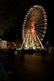 Rueda de Ferris en la noche Foto de archivo libre de regalías