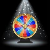 Rueda de giro realista de la fortuna libre illustration
