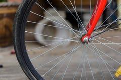 Rueda de la bici Imágenes de archivo libres de regalías