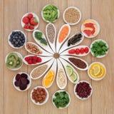 Rueda de la comida sana Imagenes de archivo