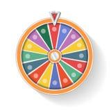 Rueda de la fortuna colorida Foto de archivo libre de regalías