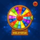 Rueda de la fortuna para el juego de Ui Imagen de archivo