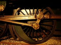 Rueda de la locomotora de vapor Imagenes de archivo