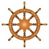Rueda de la marina de la nave aislada Imágenes de archivo libres de regalías