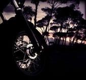 Rueda de la moto Fotografía de archivo
