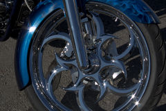 Rueda de la motocicleta Imagenes de archivo