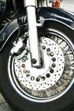 Rueda de la motocicleta Fotografía de archivo libre de regalías