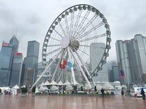 rueda de la observación de Hong-Kong Imagenes de archivo