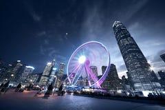 Rueda de la observación, Hong Kong Imagenes de archivo