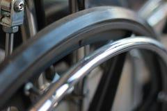 Rueda de la silla de ruedas Foto de archivo libre de regalías