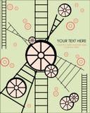 Rueda de la tarjeta del tiempo Stock de ilustración