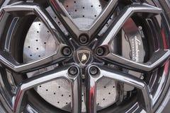 Rueda de Lamborghini, opinión del primer fotografía de archivo libre de regalías