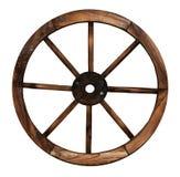 Rueda de madera del carro Fotografía de archivo