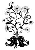 Rueda de margarita blanco y negro stock de ilustración