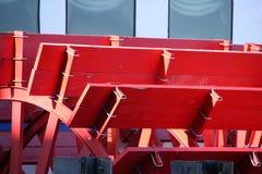 Rueda de paletas roja Fotos de archivo