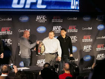 Rueda de prensa de UFC 158 Imagen de archivo libre de regalías