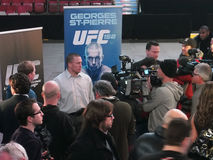 Rueda de prensa de UFC 158 Foto de archivo