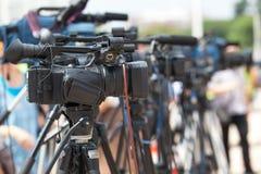 Rueda de prensa Difusión de TV fotos de archivo libres de regalías