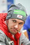Rueda de prensa para hombre del eslalom del mundial de Audi FIS fotos de archivo