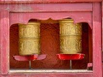 Rueda de rezo - Buddist Fotografía de archivo