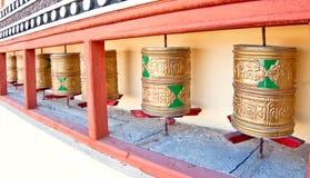 Rueda de rezo budista Foto de archivo