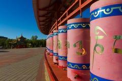 Rueda de rezo budista Imágenes de archivo libres de regalías