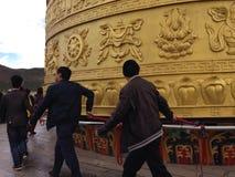 Rueda de rezo tibetana Imagen de archivo libre de regalías