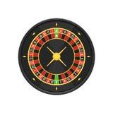 Rueda de ruleta americana del casino Fotos de archivo