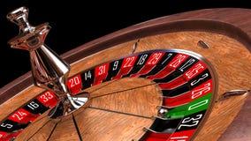 Rueda de ruleta del casino Foto de archivo libre de regalías