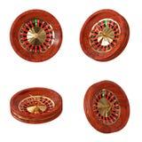 Rueda de ruleta del casino representación 3d Fotografía de archivo