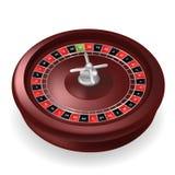 Rueda de ruleta realista del casino aislada en el fondo blanco ejemplo realista del vector 3D Ruleta en línea del casino que jueg ilustración del vector