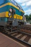 Rueda de una locomotora Imagenes de archivo