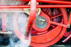 Rueda de una locomotora de vapor imagen de archivo libre de regalías