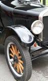 Rueda, defensa y linterna del coche viejo Fotografía de archivo libre de regalías