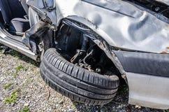 rueda del accidente de tráfico Foto de archivo libre de regalías