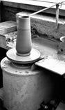 Rueda del alfarero s imagen de archivo libre de regalías