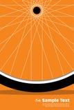 Rueda del cartel de la bici Foto de archivo libre de regalías