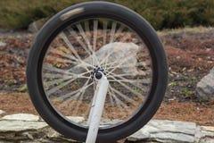 Rueda del eslabón giratorio de la bici imagen de archivo
