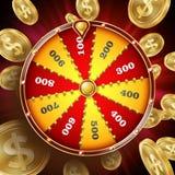 Rueda del vector del diseño de la fortuna Ruleta 3d Victory Object de la fortuna del triunfo Lucky Poster Opportunity Design Club stock de ilustración