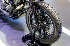 Rueda delantera de la motocicleta Fotografía de archivo