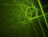 Rueda dentada verde Foto de archivo libre de regalías