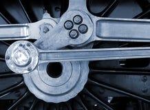 Rueda ferroviaria del motor Fotos de archivo libres de regalías