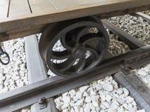 Rueda ferroviaria eslovena del detalle foto de archivo libre de regalías
